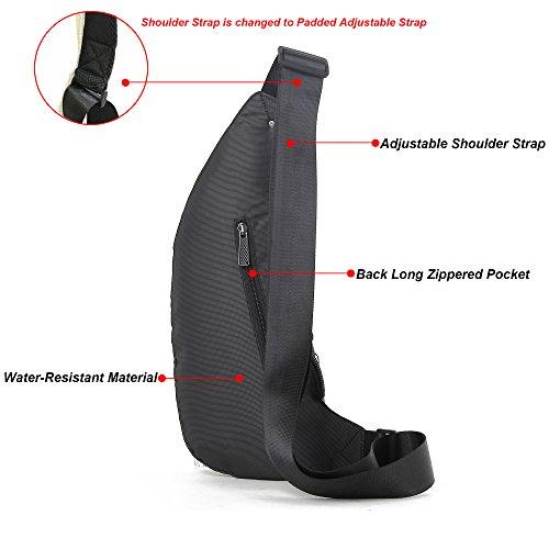 Nicgid Sling Bag Chest Shoulder Backpack Fanny Pack Crossbody Bags for Men(Black)