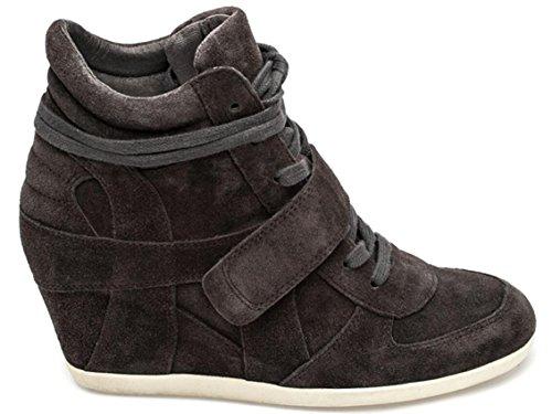Hoge Schoenen Met Verborgen Hiel Sneakers, Wiggen Leren Casual Pumps Schoenen 6 Kleuren Maat 5-7,5 Koffie