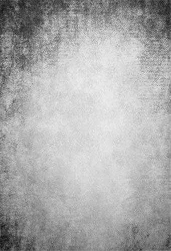 Laeacco Grunge Abstract Gradient Light Grey 6.5x8ft Vinyl Photography Background Low Key Child Adult Pet Portrait Shoot Backdrop Clothes Products Nostalgia Wallpaper Studio Props