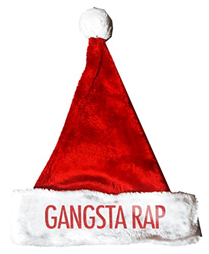 GANGSTA RAP Santa Christmas Holiday Hat Costume for Adults and Kids (Gangsta Rap Costume)