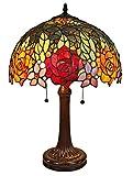 Amora Lighting Tiffany Style Table Lamp Banker 23