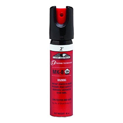 Defense Technology First Defense Oc Slide Lock Stream Mk 8  2  Solution White Band Pepper Spray  0 68 Ounce
