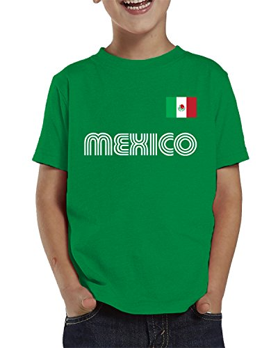 SpiritForged Apparel Mexico Soccer Jersey Toddler T-Shirt, Kelly 4T