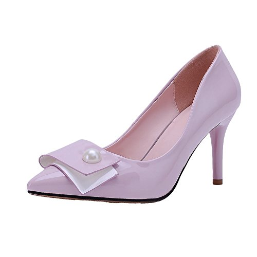 Mee Shoes Damen Lackleder spitz high heels Pumps Lila