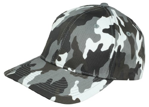 Baseball Camo Solid Hat in Gray Tree (Pixel Camo Army Cap)