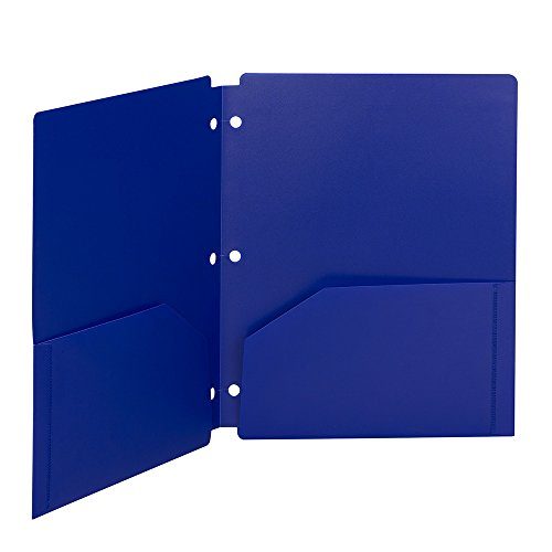 Smead Campus.org Poly Snap-In Two-Pocket File Folder, Up to 50 Sheets, Letter Size, Single Folder, Color Varies (87928) ()