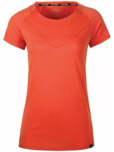 Dakine Women's Faye Short Sleeve Bike Jersey Shirt, Bright Coral, S