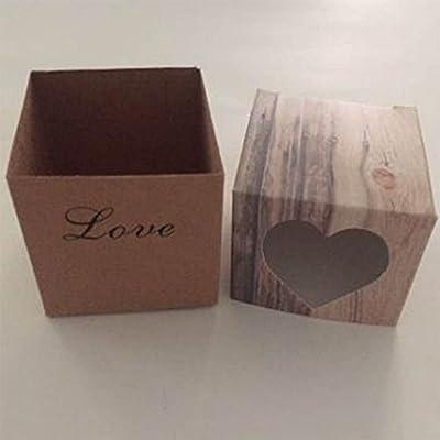 Monbedos - Caja para Dulces con Cuerda de Cáñamo, Caja de Papel de ...