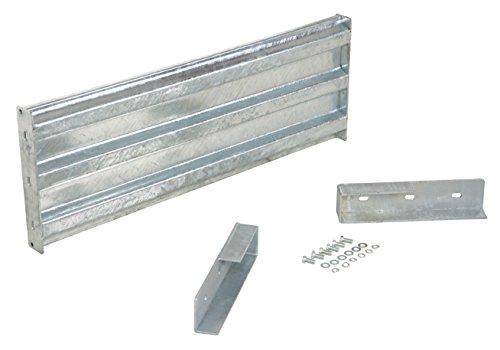 (Vestil GGR-LO-4 Galvanized Drop-In Structural Guard Rail, 41-7/8