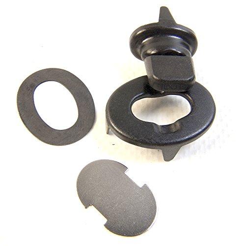 Black Oxide Finish 3 Piece Set Common Sense Fastener Set Turn Button
