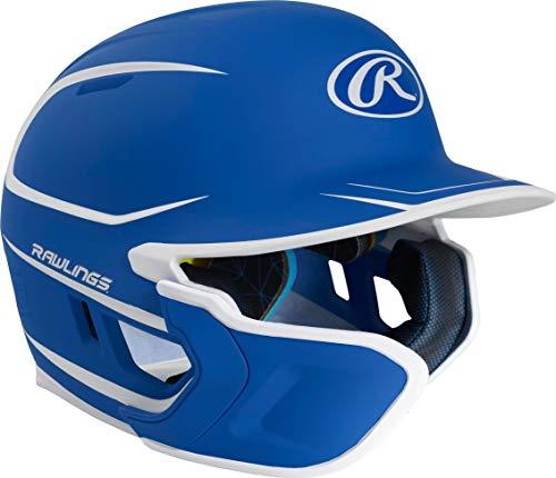 Rawlings Mach Two-Tone Matte Batting Helmet with EXT Flap (Foam Rawlings Batting Helmet)