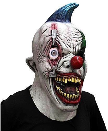 Gatton Pinned Eye Clown Creepy Scary Mask One-Size Fits All Ideal for Halloween Horror -