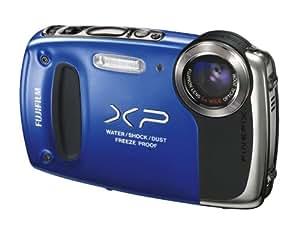 """Fujifilm FinePix XP50 - Cámara compacta deportiva resistente a caídas (1,5 m) y sumergible (5 m) de 14 Mp (pantalla de 2.7"""", zoom óptico 5x, estabilizador de imagen óptico, vídeo Full HD 1080p, resistente al agua), color azul"""