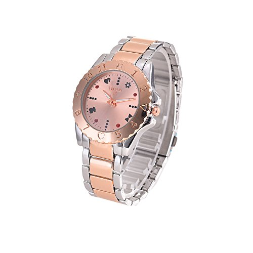 Dress Bear Watches Alloy Silver With Rose Gold Woman Watches