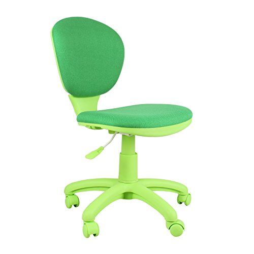 [Emall Life Mid-back Desk Chair 360° Adjustable Swivel Office Chair Armless Fabric Task Chair (Green)] (Director Office Chair)