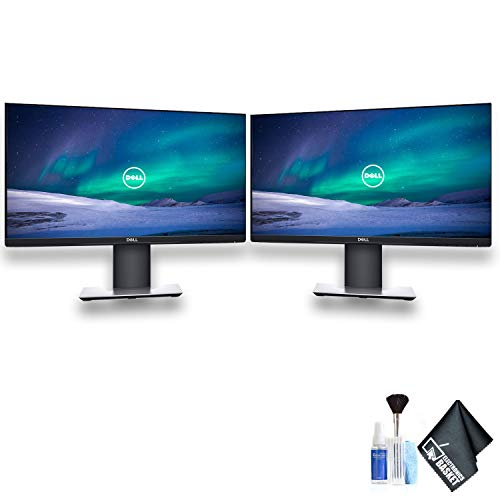 Dell P2219H 21.5″ 16:9 Ultrathin Bezel IPS Monitor Dual Monitor Set With Deluxe Cleaning Kit