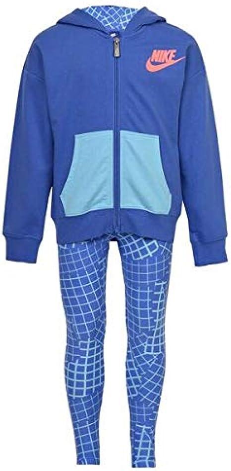 Nike 923-B9A Chándal, Niñas, Azul, 6-7 Años: Amazon.es: Ropa y ...