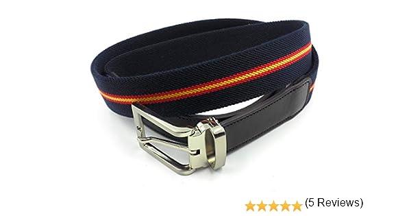 FJR-ArtPiel - Cinturón elástico bandera de España 35mm con ...