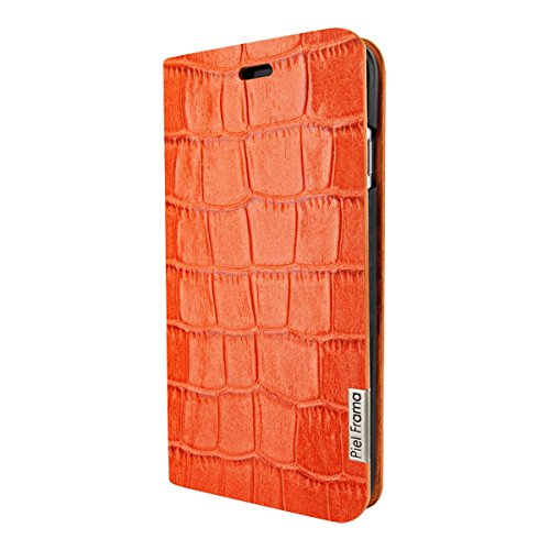 Latest Piel Frama iPhone 7 Plus / 8 Plus FramaSlimCards Leather Case - Orange Cowskin-Crocodile orange iphone 7 plus case 8