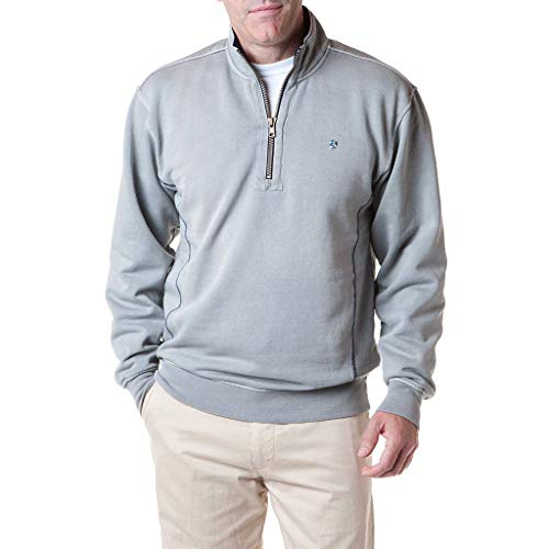 Castaway Clothing Breakwater Quarter Zip in Grey Final ()