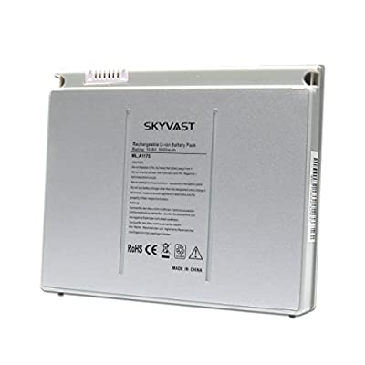 "Skyvast A1175 Replacement Silver Laptop Battery for Apple MacBook Pro 15"" A1175 A1150 A1211 A1226 A1260 MA348 MA348/A MA348G/A MA348J/A [Rating: 10.8V 5800mAh/60Wh] by Skyvast"