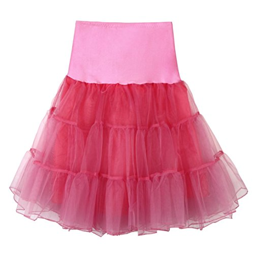 Jupe Femme, YUYOUG 1950 Rockabilly Jupon Jupon Retro Vintage Petticoat Tutu Swing battente retro jupon bal de promo jupon tulle court ?? O
