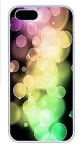 iPhone 5S Case Cover - Circle Bokeh Cool PC Hard Case for iPhone 5S/5 - White