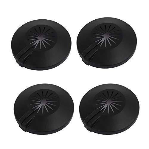 Saim Wall Flange Easy Installation Plastic Radiator Escutcheon Water Pipe Drain Line Cover Collar Wall Pipe Cover Decoration Black 16-25mm 4Pcs