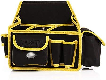 ツールベルト 電気技師多機能大容量ウエストツールベルトハードウェア収納袋特大ウエストバッグブラック 大工のエプロン (Color : Black, Size : 26x14.5x26cm)