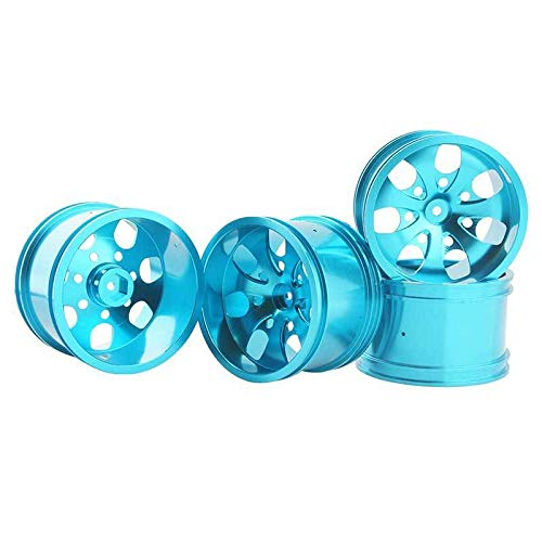Toyoutdoorparts RC 08008N Alumiunm Blue Wheels 4pcs for RedCat 1:10 Nitro Volcano S30 Truck by Toyoutdoorparts (Image #4)