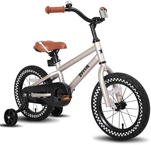 joystar - Adhesivo para Bicicleta Infantil con Rueda de Entrenamiento para niños y niñas (12, 14, 16 Pulgadas), 35,56 cm, Plateado: Amazon.es: Deportes y aire libre