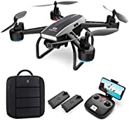 DEERC Drone with Camera for Adults 1080p Full HD FPV Live Video 120° Wide Angle, Altitude Hold, Headless Mode,