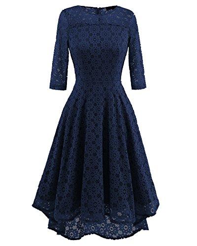 Abito 4 navy manica corta girocollo manica blu Acvip 3 donna corta xnv06rx
