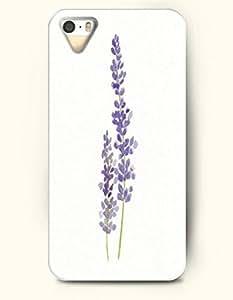 Phone Case For iPhone 5 5S Purple Lavender - Hard Back Plastic Case / Oil Painting / SevenArc Authentic