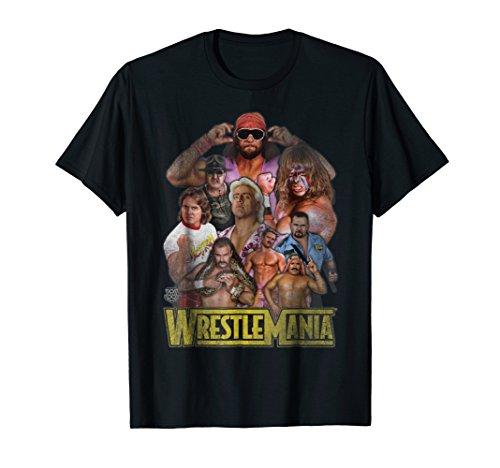 WWE Classic Wrestlemania Champs Retro T-Shirt Classic 50's Retro Shirt