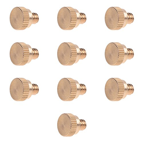 (BCP 10PCS 10/24 Screw Thread Brass Misting Nozzle Plug for Outdoor Cooling)
