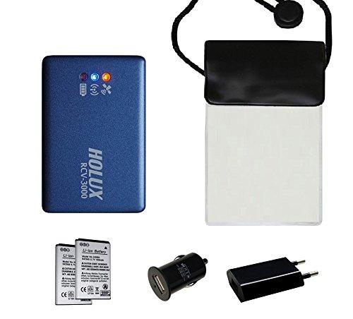 HOLUX RCV-3000 (neue Version) Bluetooth GNSS (GPS/ GLONASS) Logger - Set4 mit wasserfster Tasche, 2 Akkus, Netzteil, KFZ-Adapter RCV-3000 Bluetooth GNSS (GPS/ GLONASS) Logger - Set4 mit wasserfster Tasche, 2 Akkus, Netzteil, KFZ-Adapter