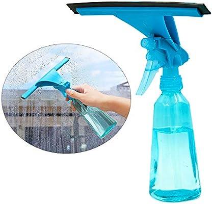 FEIGO - Aspiradora para ventanas 2 en 1, limpiaparabrisas de cristal con cepillo de rociado para rayar, limpiador de ventanas para coche, hogar y oficina