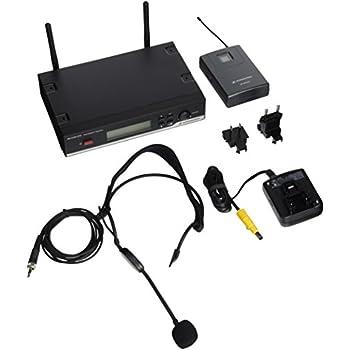"""Sennheiser XSW 52-B XS Wireless Headset System - SK 20, ME 3 and EM 10 Receiver - """"B"""" 614-636 MHz"""