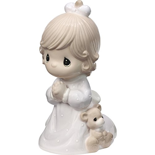 (Precious Moments Praying Girl Jesus Loves Me LED Porcelain Night Light 185032 NIGHTLIGHT, One Size, Multicolor)