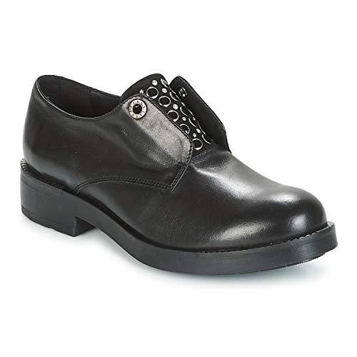 À Femme Chaussures Lacets Pour Ville Noir Blu De Tosca z7xqw0I5