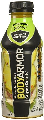 BodyArmor SuperDrink, Pineapple Coconut, 16 Ounce Bottles (Pack of 12)