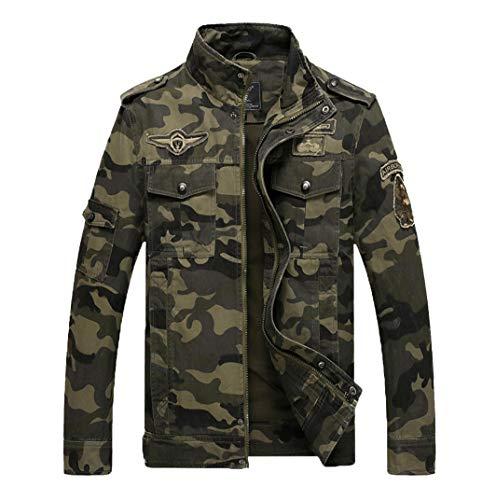 5755bcb2f3f8d LaoZanA Hombre Chaqueta Camuflaje Abrigo Cazadora Militar Casual  Multi-Bolsillo Slim Fit  Amazon.es  Deportes y aire libre