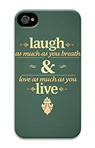 iPhone 5 5s Case, Laugh Love Live Personalized Case for iPhone 5 5s 3D PC Material