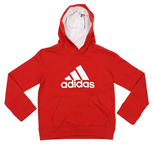 Adidas Big Game Fleece (Adidas Big Boys Youth Game Ready Pullover Fleece Hoodie, Red White)