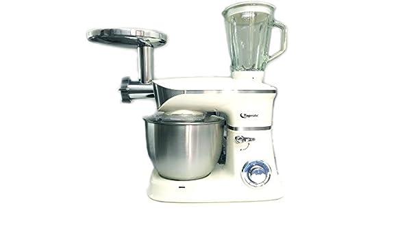 Topmatic 1900 Robot de cocina multifunción batidora amasadora, color crema: Amazon.es: Hogar