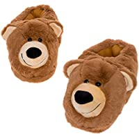 Image of Cute Brown Bear Slippers for Adults
