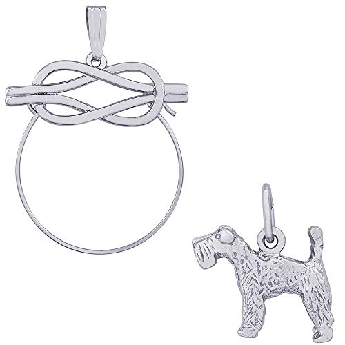 Kerry Blue Dog Terrier Charm (Rembrandt Charms Kerry Blue Terrier Charm on a Rembrandt Charms Infinity Charm Holder)