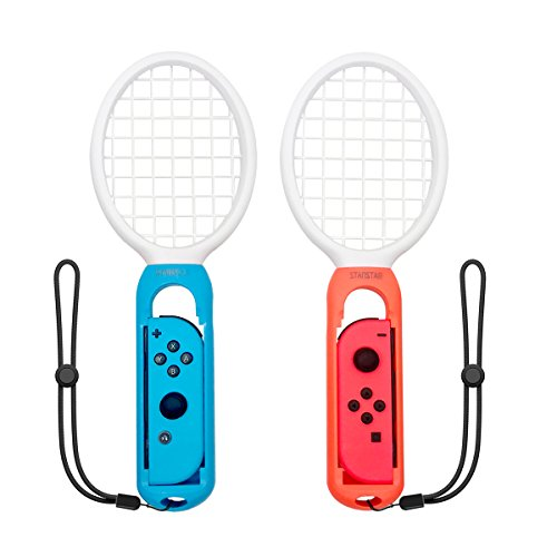 Price comparison product image STANSTAR Tennis Racket for Nintendo Switch Mario Tennis Aces Joy Con Controller One Pair Nintendo Switch Accessories