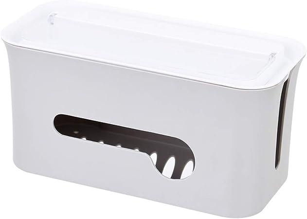 Caja de gestión de cables Enchufe de fila Organizador de la placa de alimentación Tablero de distribución de cables de escritorio Caja de almacenamiento utilizada para ocultar cables y alambres,Gris: Amazon.es: Hogar